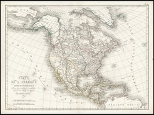 South, Alaska and North America Map By Ambroise Tardieu