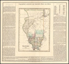 Midwest Map By Carl Ferdinand Weiland