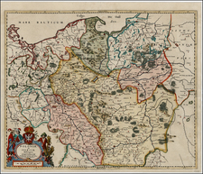 Europe, Poland and Baltic Countries Map By Frederick De Wit