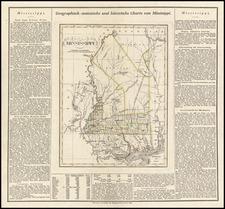 Mississippi Map By Carl Ferdinand Weiland