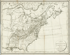 United States Map By Constantin F. Volney