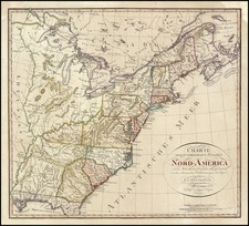 United States Map By Franz Ludwig Gussefeld