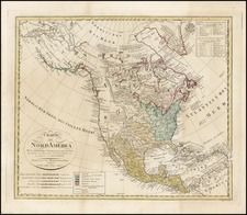 North America Map By Homann Heirs / Franz Ludwig Gussefeld