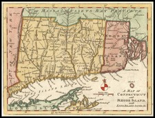 New England Map By Gentleman's Magazine