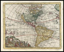 World, Western Hemisphere, South America and America Map By Don Francisco De Afferden