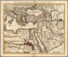 Europe, Turkey, Mediterranean, Asia, Middle East and Turkey & Asia Minor Map By Peter Schenk