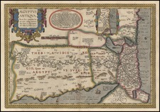 Africa and North Africa Map By Abraham Ortelius