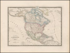 North America Map By Charles Picquet