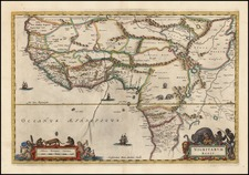 West Africa Map By Willem Janszoon Blaeu / Pieter Mortier