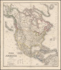 North America Map By Heinrich Kiepert