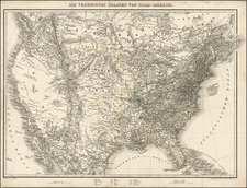 United States and Texas Map By J.E. Woerl