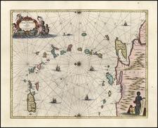 Caribbean Map By Jan Jansson