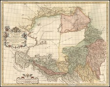 Asia, China and Central Asia & Caucasus Map By Jean-Baptiste Bourguignon d'Anville