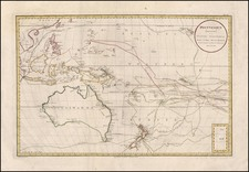 World, Australia & Oceania, Pacific, Australia, Oceania and New Zealand Map By Daniel Djurberg / Franz Anton Schraembl