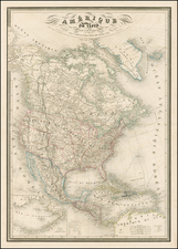 United States, Southwest and North America Map By Adolphe Hippolyte Dufour
