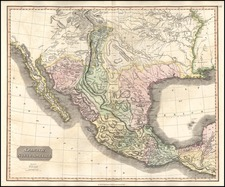 Texas, Plains, Southwest and Mexico Map By John Thomson