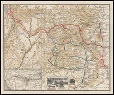 Rocky Mountains Map By Denver & Rio Grande RR