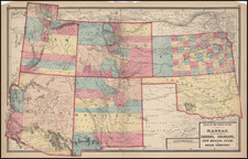Plains, Southwest and Rocky Mountains Map By Gray  &  Henry Francis Walling