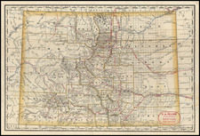 Rocky Mountains Map By Rand McNally & Company / J.A. Blake
