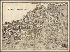 New England and Canada Map By Giovanni Battista Ramusio / Giacomo Gastaldi