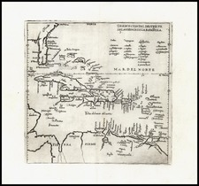 Southeast and Caribbean Map By Antonio de Herrera y Tordesillas