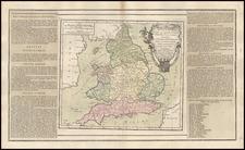 England Map By Louis Brion de la Tour