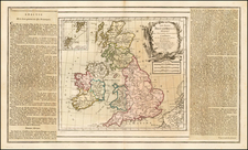 British Isles Map By Louis Brion de la Tour