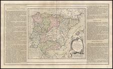 Spain and Portugal Map By Louis Brion de la Tour