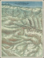 Rocky Mountains Map By George Clason
