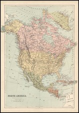 North America Map By T. Ellwood Zell