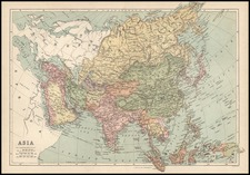 Asia and Asia Map By T. Ellwood Zell