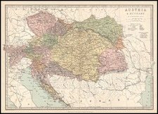 Europe, Austria, Poland, Hungary and Balkans Map By T. Ellwood Zell