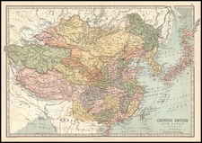 Asia, China, Japan, Korea and Central Asia & Caucasus Map By T. Ellwood Zell