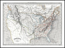 United States Map By Adolphe Hippolyte Dufour