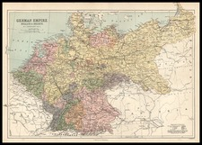 Europe, Netherlands, Germany and Baltic Countries Map By T. Ellwood Zell