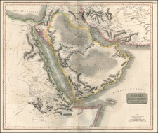 Asia, Middle East, Africa, Egypt and North Africa Map By John Thomson