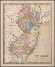 Mid-Atlantic Map By Thomas Gamaliel Bradford