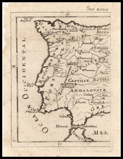Europe, Spain and Portugal Map By Alain Manesson Mallet