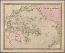World, Alaska, Australia & Oceania, Pacific, Oceania and Other Pacific Islands Map By Thomas Gamaliel Bradford  &  Goodrich