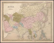 Asia and Asia Map By Thomas Gamaliel Bradford  &  Goodrich