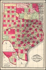 Texas and Plains Map By H.C. Tunison