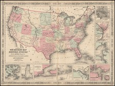 United States Map By Benjamin P Ward / Alvin Jewett Johnson