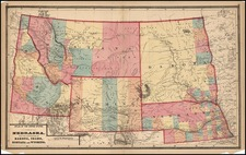 Midwest and Plains Map By Walling & Gray
