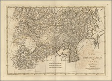 Asia, China, Korea and Central Asia & Caucasus Map By Samuel Dunn