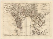Asia, China, India and Southeast Asia Map By Samuel Dunn