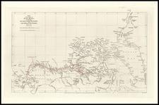 World, Polar Maps, Alaska and Canada Map By John Arrowsmith