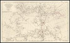 World, Polar Maps and Canada Map By John Arrowsmith