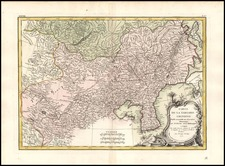 Asia, China, Korea, Central Asia & Caucasus and Russia in Asia Map By Rigobert Bonne