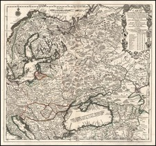 Europe, Poland, Russia, Balkans and Scandinavia Map By Nicolas de Fer