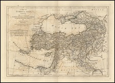 Europe, Russia, Balkans, Italy, Turkey, Asia, Central Asia & Caucasus and Turkey & Asia Minor Map By Samuel Dunn